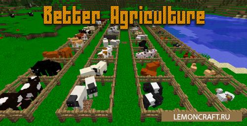 Мод на собственную ферму Better Agriculture [1.12.2] [1.10.2] [1.9.4]