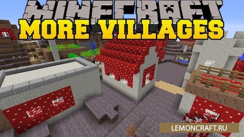 Мод на изменение генерации деревень Mo' Villages by The_WeatherPony [1.12.2] [1.11] [1.10.2] [1.9.4]