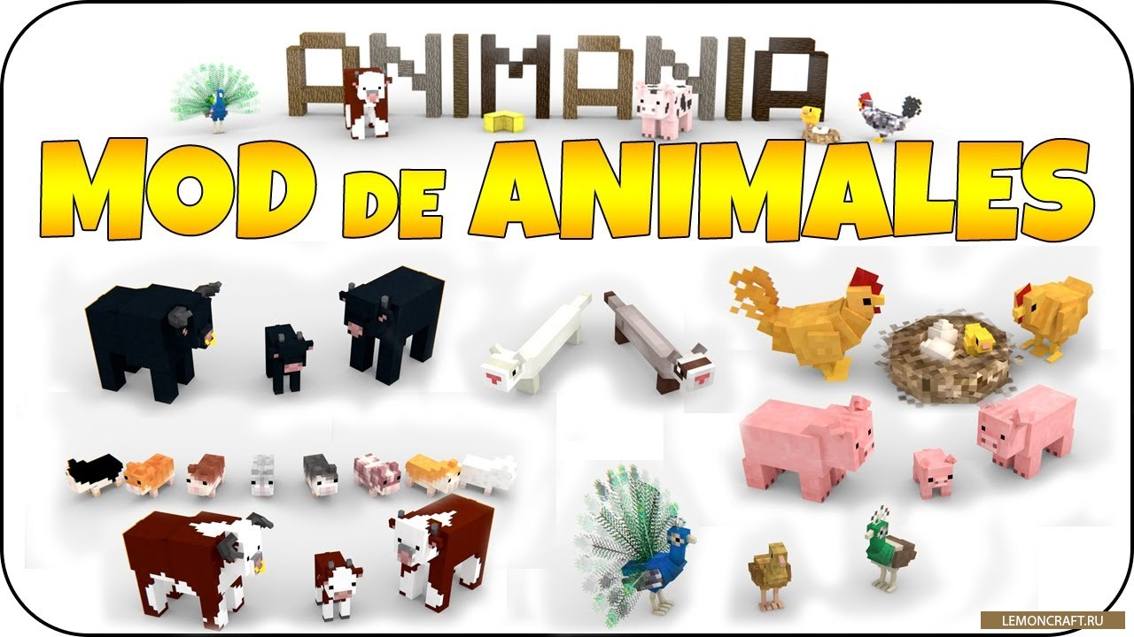Мод на новые модели животных Animania [1.12.2] [1.11.2] [1.10.2]