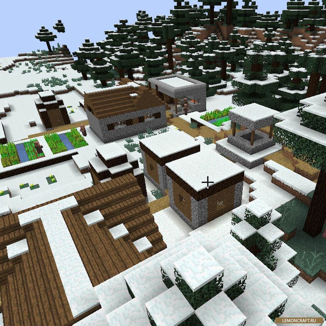 Мод на таежный постройки SnowVillage [1.12.2] [1.11.2]