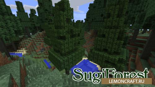 Мод на вечнозеленые деревья SugiForest [1.12.2] [1.11.2] [1.9.4] [1.8.9]