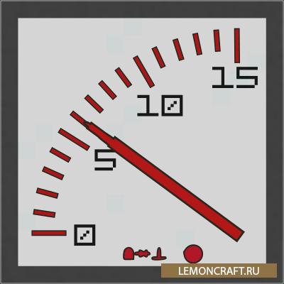 Мод на редстоун приборы Redstone Gauges and Switches [1.12.2]