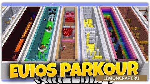 Паркур Карта на 18 уровней Parkour Euios [1.9.2] [1.9]