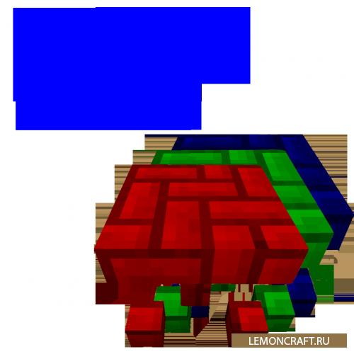 Мод на покраску блоков Colourful Blocks [1.9] [1.7.10]