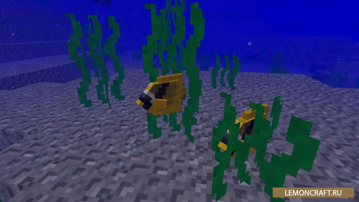 Мод на реалистичных рыб Aquatic Abyss [1.7.10]