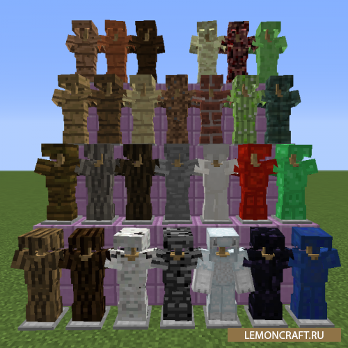 Мод на  броню из ванильных блоков Block Armor [1.10.2] [1.9.4] [1.8.9]