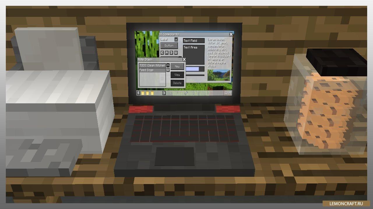 Мод на ноутбук и периферию MrCrayfish's Device [1.12.2] [1.11.2] [1.8.9]