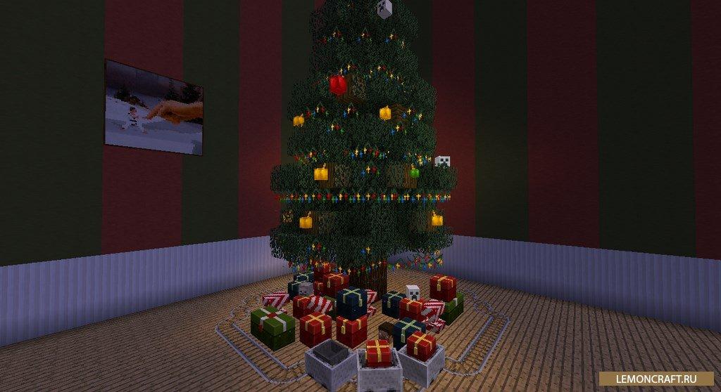Мод на новогоднюю атмосферу Default-Style Christmas Pack [1.12.2] [1.11.2] [1.10.2]