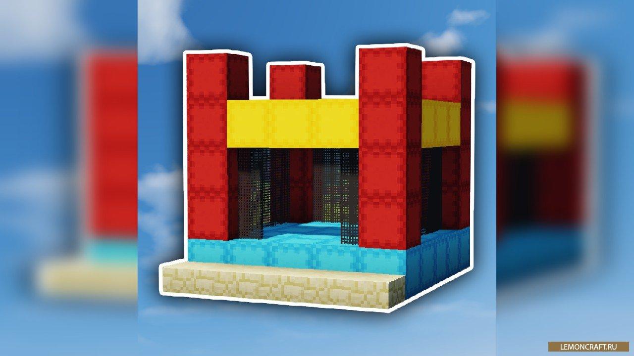 Мод на надувные замки MrCrayfish's Jumping Castle [1.12.2]