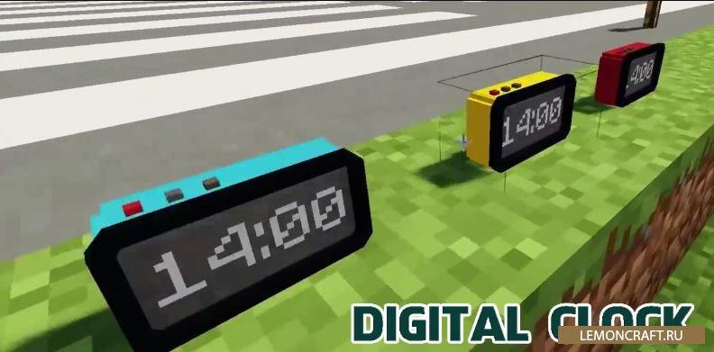 Мод на цифровые часы Digital Clock [1.12.2]
