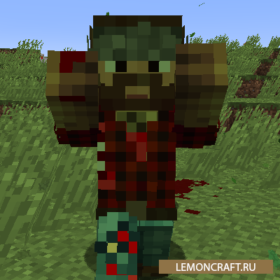 Мод на зомби версию игрока Zombie Players [1.12.2]