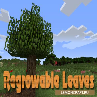 Мод на восстановление листьев Regrowable Leaves [1.12.2] [1.10.2] [1.7.10]