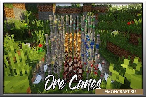 Мод на выращивание ванильных руд Ore Canes [1.15.2] [1.14.4] [1.12.2]