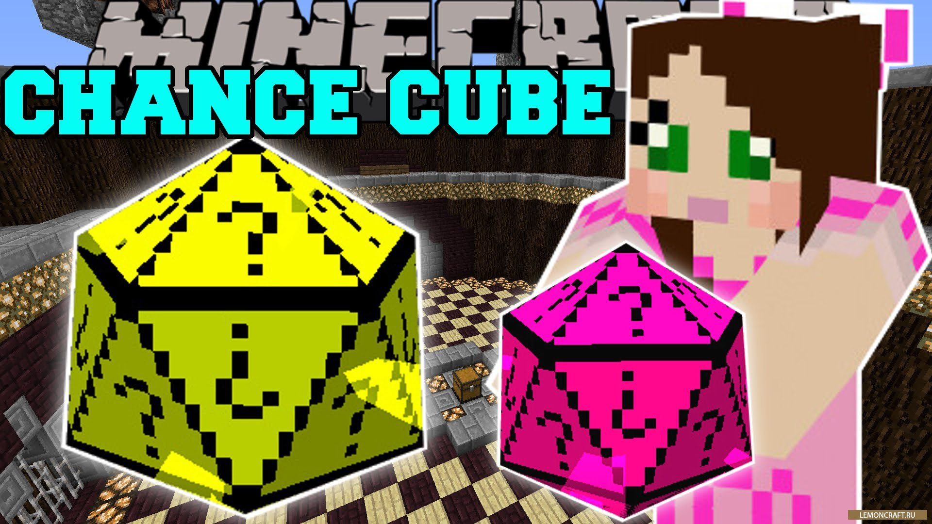 Мод на везение или невезение Chance Cubes [1.16.2] [1.15.2] [1.14.4] [1.12.2]