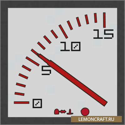 Мод на редстоун приборы Redstone Gauges and Switches [1.12.2]