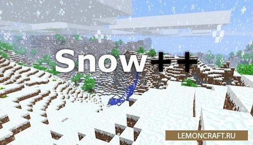 Мод на игру в снежки Snow++ [1.12.2]