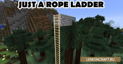 Мод на веревочные лестницы Just A Rope Ladder [1.12.2]