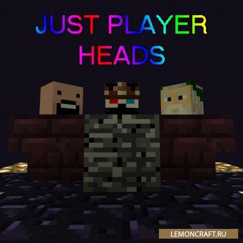 Мод на головы игроков Just Player Heads [1.14.4] [1.13.2] [1.12.2] [1.11.2]