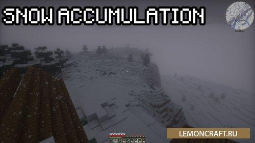 Мод на реалистичные снежные пейзажи Snow Accumulation [1.14.4] [1.13.2] [1.12.2]