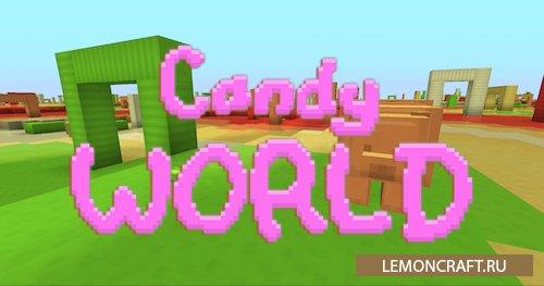 Мод на сладкие биомы Candy World [1.12.2]