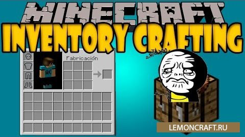 Мод на сетку крафта в инвентаре Inventory Crafting Grid [1.16.1] [1.15.2] [1.12.2] [1.10.2]