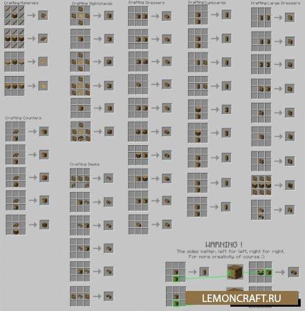 Мод на мебель в ванильном стиле Macaw's Furniture [1.16.4] [1.15.2] [1.14.4] [1.12.2]