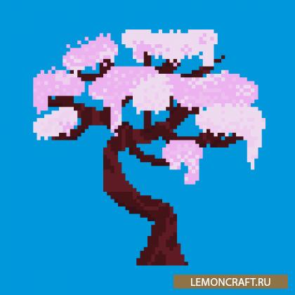Мод на сакуру Sakura Forest [1.15.2]