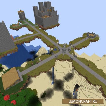 Мод на воздушные замки Flying Castles [1.16.5] [1.15.2] [1.14.4]